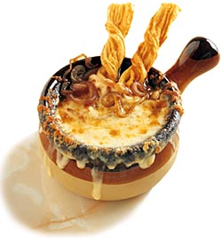 Onion Soup with CheeseSticks