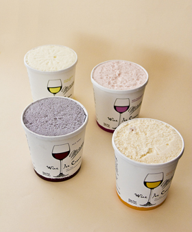Mercer's Wine Ice Cream Pints