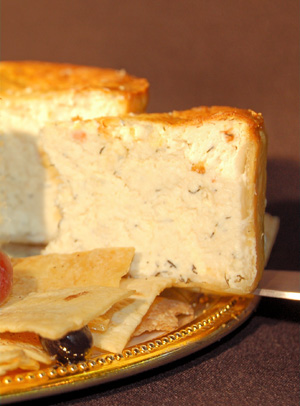 Savory Cheesecake Slice