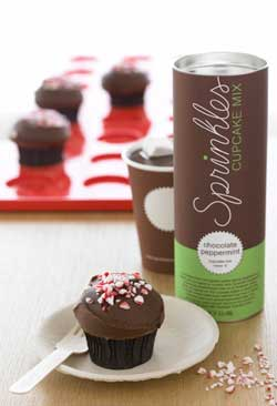 Sprinkles Chocolate Peppermint Cupcake