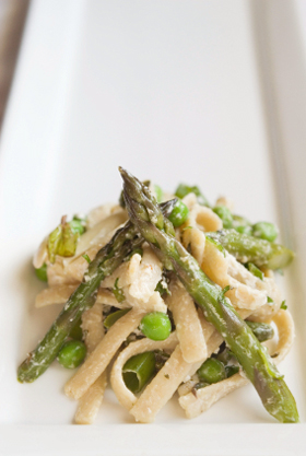 Fettucine and Asparagus