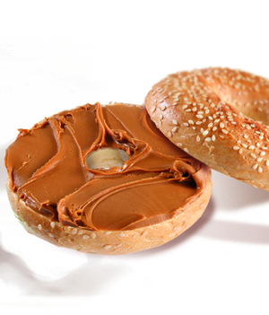 Bagel With Speculoos Spread