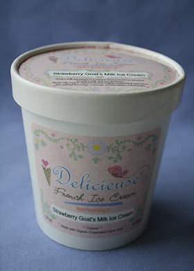 Strawberry Goat Milk Ice Cream