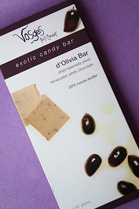 Vosges d'Oliva White Chocolate Bar
